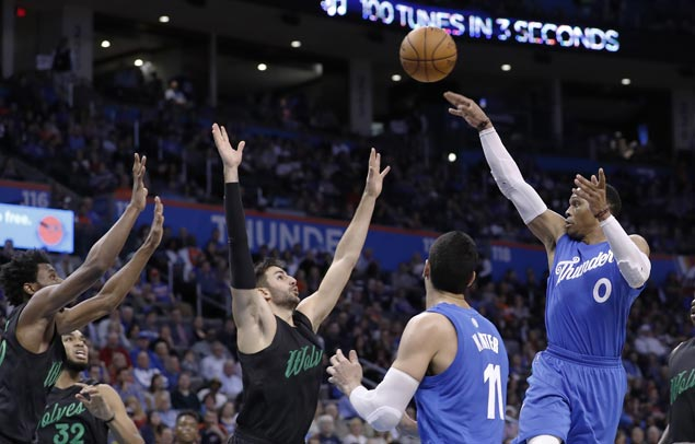 Thunder take charge in third and cruise to victory over Timberwolves
