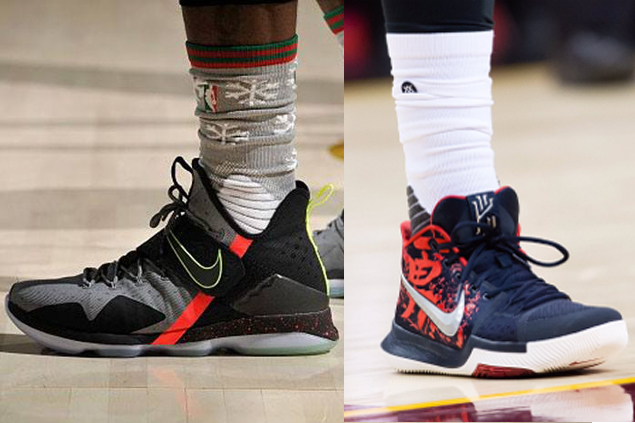 LeBron, Kyrie bring out new shoes; Curry, Rose debut latest colorways in Christmas clash