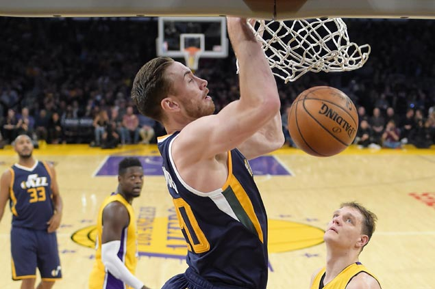 Jazz outlasts Lakers in nail-biter to break out of three-game losing slump