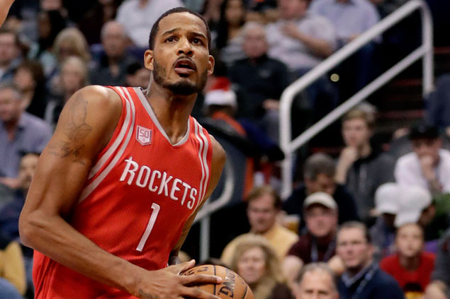 On-court spat turns ugly as Rockets' Trevor Ariza waits outside Mavs dugout to confront Salah Mejri