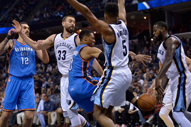 Grizzlies pull away after Westbrook ejection to deal OKC Thunder a 34-point beatdown
