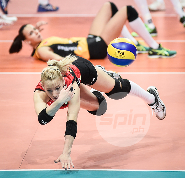 SAVING GRACE. Hatice Gizem Orge with the save.