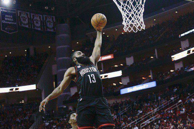 James Harden scores 53 in monster triple-double as Rockets down Knicks
