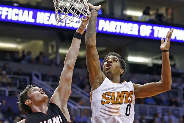 Rookie Marquese Chriss shines as Suns end long run of futility against Heat