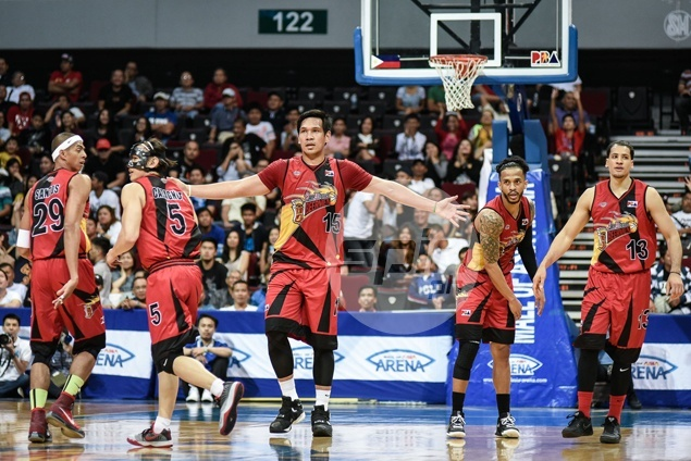 Hot-shooting San Miguel deals Blackwater a reality check with a 25-point beating
