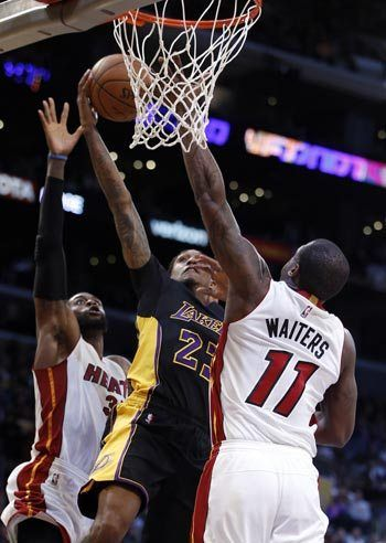 Lou Williams takes charge for Lakers in win over Heat as Goran Dragic gets sent off