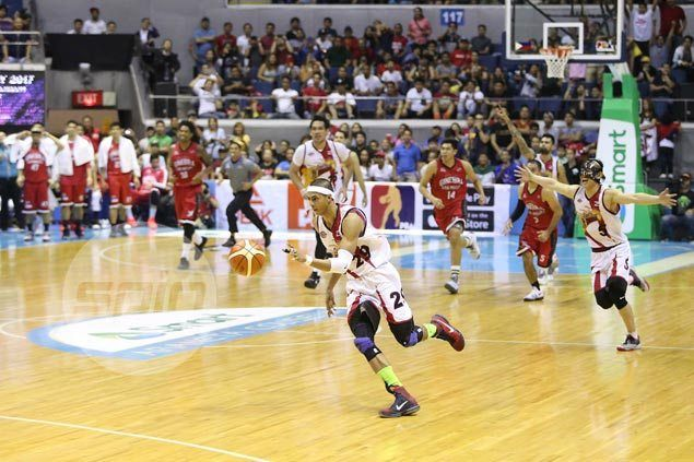 SMB makes it six wins in a row as Arwind Santos douses late Ginebra comeback