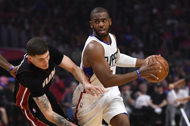 Clippers make it four straight wins with rout of struggling Heat