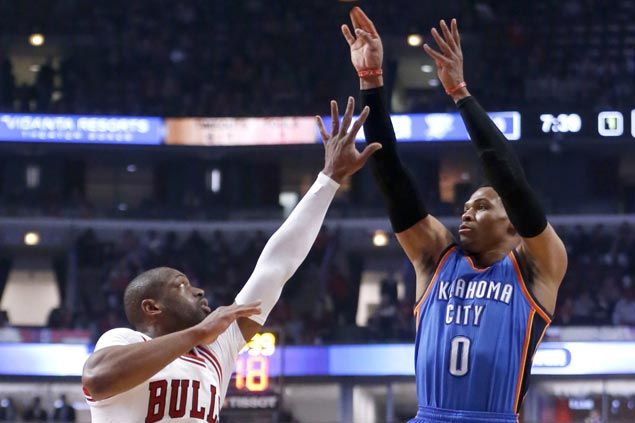Russell Westbrook flirts with another triple-double as Thunder defeat Bulls