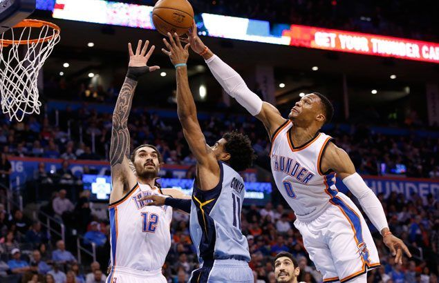 Misfiring Russell Westbrook still comes up with triple-double as Thunder down Grizzlies