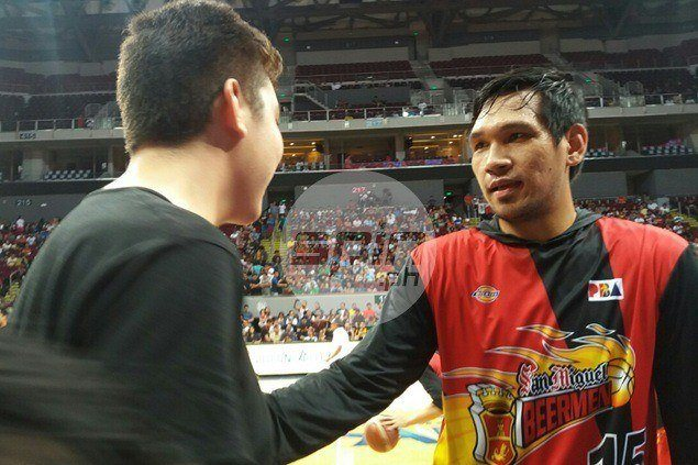 June Mar Fajardo simply paying it forward when he gifted Kirkness with size 17 shoes