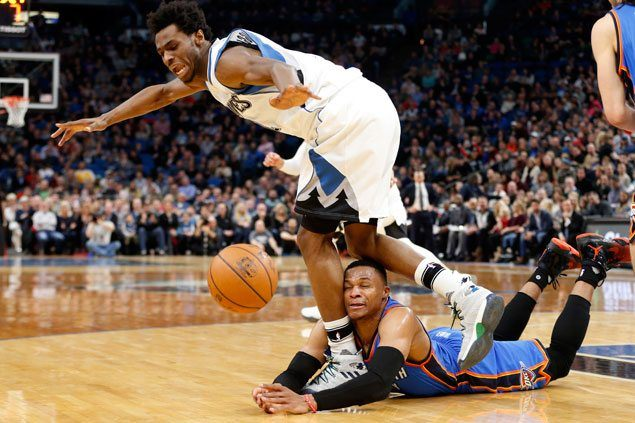 Wolves stretch streak to three with win over Thunder as Westbrook triple-double is marred by 10 turnovers