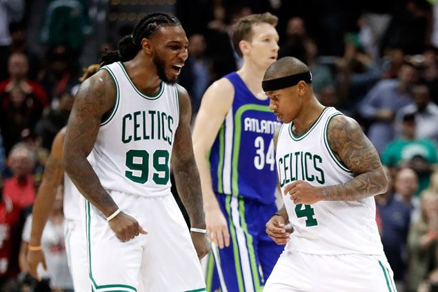 Celtics hit 17 triples and put an end to Hawks' seven-game winning streak