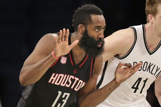 James Harden shrugs off rare cold spell as Rockets vent ire on 'defenseless' Nets