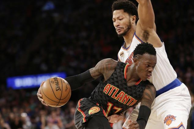 Dennis Schroder hits go-ahead triple as Hawks nip Knicks for second straight victory
