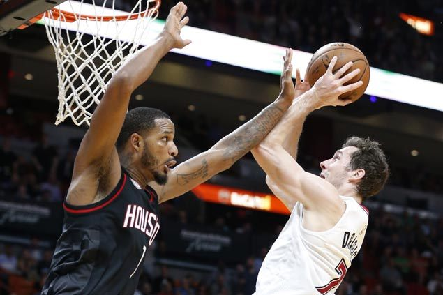 Lowly Heat stun Rockets and spoil Harden's 40-point triple-double outing