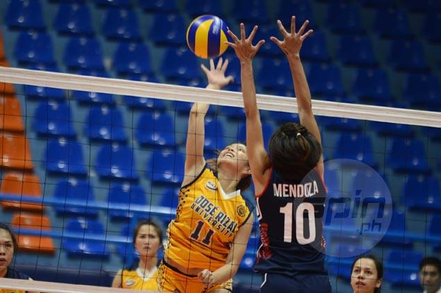 Shola Alvarez shows way as JRU Lady Bombers beat Letran Lady Knights in four sets