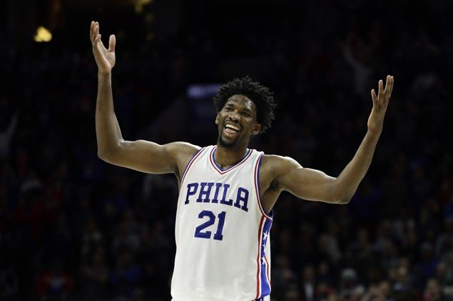 Joel Embiid, dealing with the flu, shows way as Sixers stun Raptors