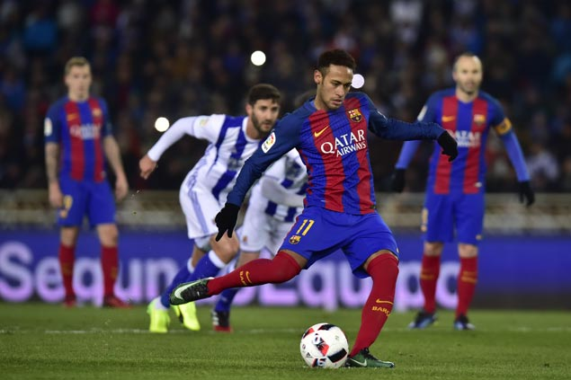 Barcelona ends 10-year winless run at Real Sociedad in first leg of Copa del Rey quarterfinals