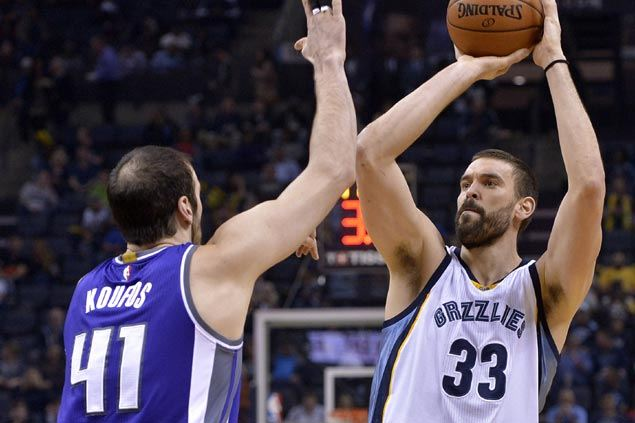 Gasol, Randolph lead Grizzlies in gunning down struggling Kings to fourth straight loss