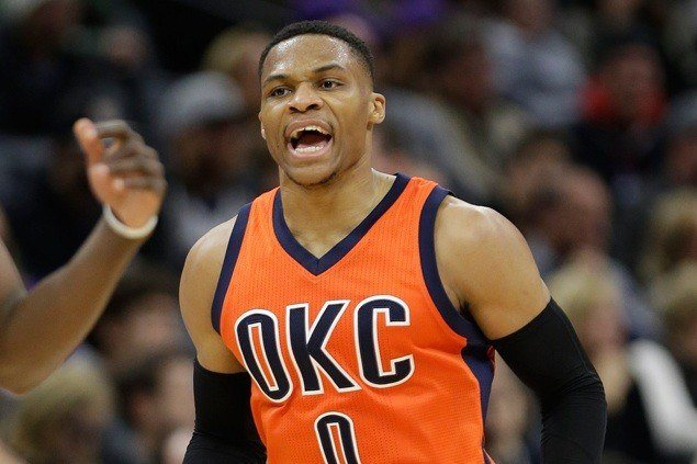 Oklahoma City Thunder sign Russell Westbrook to largest contract in NBA history