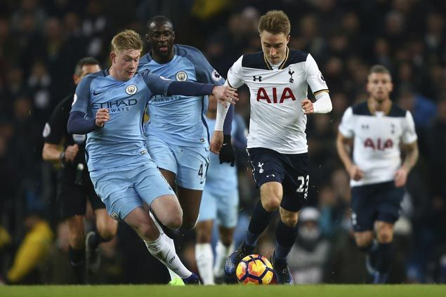 Spurs salvage draw at City after uncharacteristic blunders by Hugo Lloris