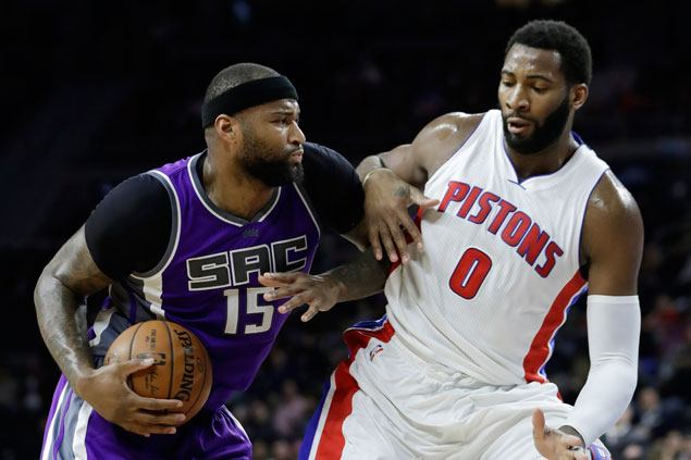 DeMarcus Cousins powers Kings past Pistons to break out of five-game losing slump
