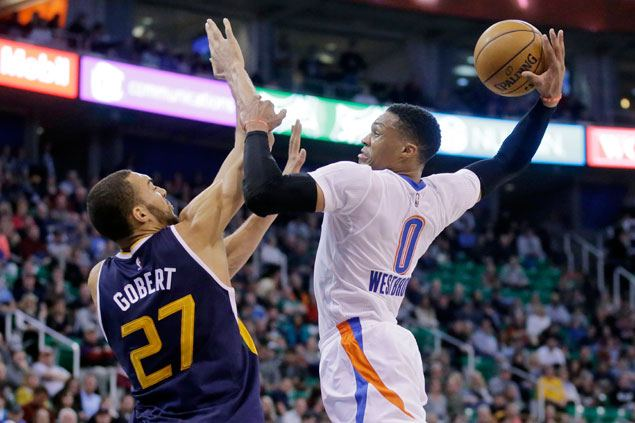 Westbrook caps another triple-double outing with game-winner to help Thunder strike down Jazz