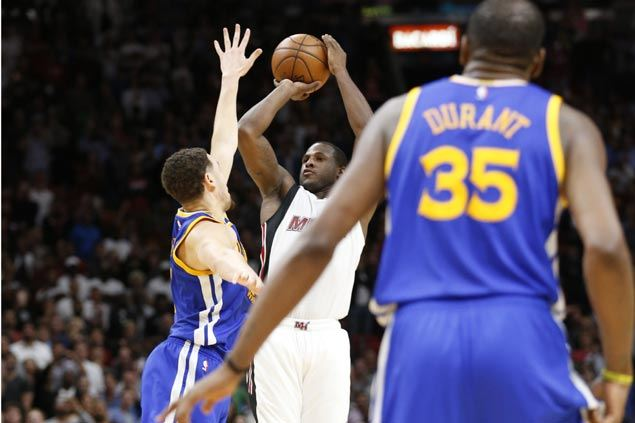 Dion Waiters drills game-winning trey as Heat fends off furious late-game rally to stun Warriors