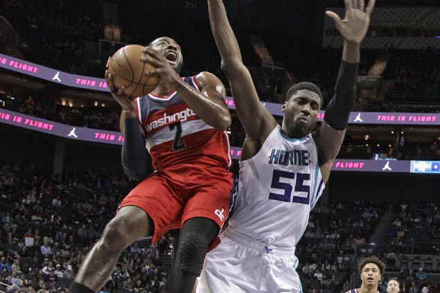John Wall, Bradley Beal lead Wizards romp to snap Hornets win run at three