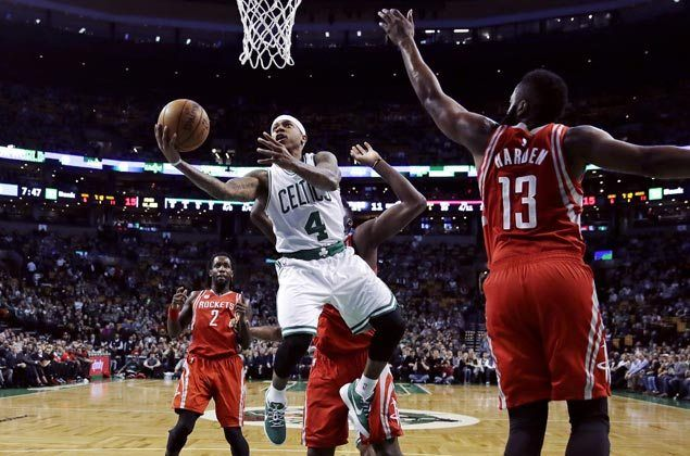 Isaiah Thomas scores 38 as Celtics shoot down Rockets to arrest three-game skid