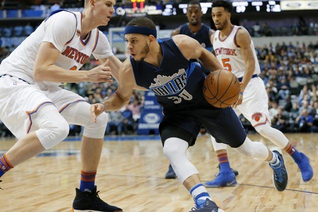 Harrison Barnes, Seth Curry spark crucial fourth quarter blitz as Mavericks turn back Knicks