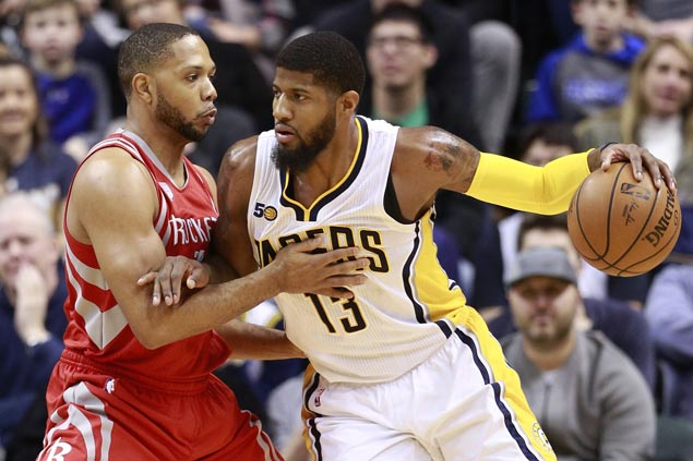 Paul George takes charge as Pacers stretch streak to three with rout of road-weary Rockets