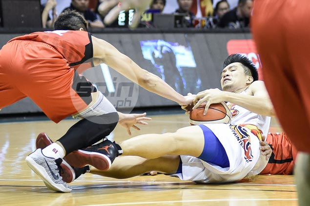 Not one word from James Yap on late-game benching as solid game goes for naught