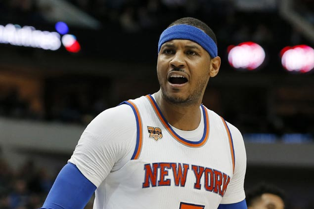 With no takers in trade talks, Knicks expect Carmelo Anthony back when training camp starts