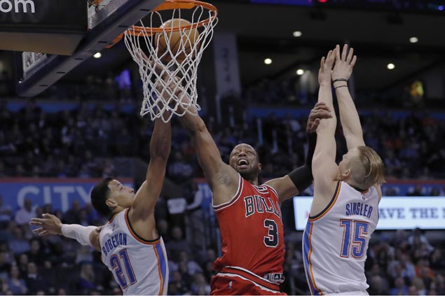 Bulls ride scorching second half to hand Thunder third loss in a row with 28-point beatdown