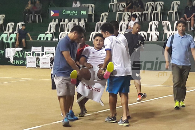 Teenager AJ Lim forced to retire in Davis Cup debut vs Indonesia due to cramps