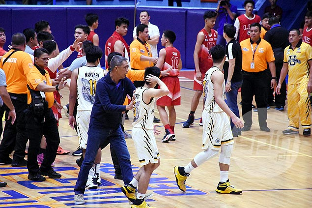 Fresh video evidence clears UE juniors player Andre Dulalia of culpability in brawl vs UST
