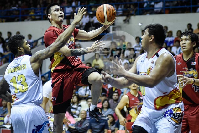 RR Garcia catches fire as top seed San Miguel shows Rain or Shine the door