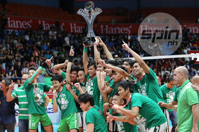 CSB Blazers outlast Perpetual in five-set thriller to capture first-ever NCAA crown