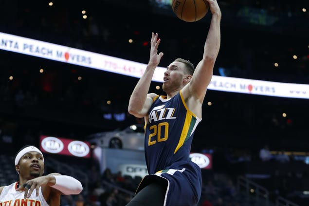 Gordon Hayward strikes hot early then Jazz pull away in the third to rout Hawks