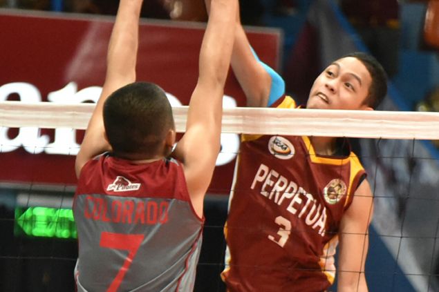 Perpetual scores crucial win in NCAA Jrs volley series opener against thrice-to-beat Lyceum