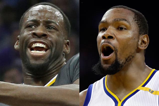 Draymond Green plays down heated moment with Kevin Durant during Warriors' loss to Kings