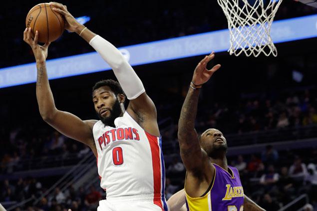 Andre Drummond, Jon Leuer dominate as Detroit Pistons defeat LA Lakers