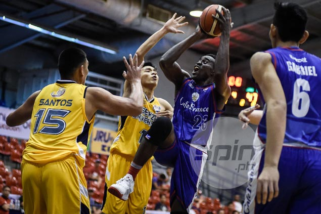 Cafe France stifles JRU gunners to gain share of second place in Aspirants Cup