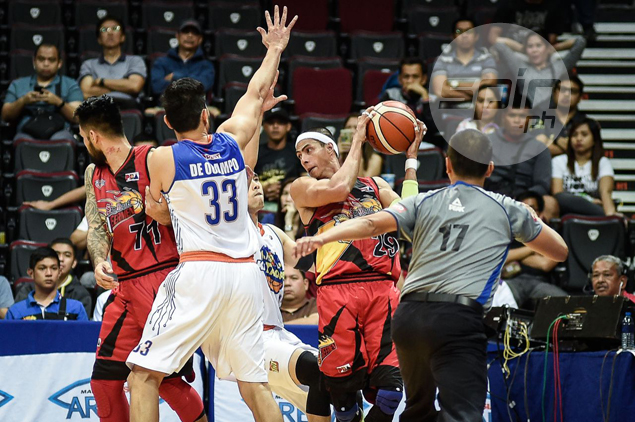 TNT Katropa turns to defense to snap San Miguel's 11-game win streak, tie series