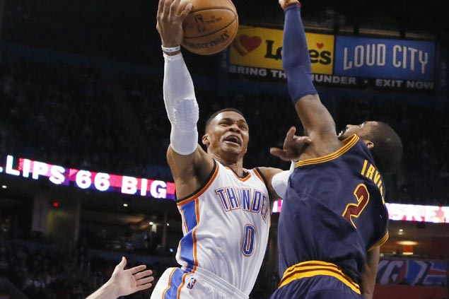 Russell Westbrook nabs triple-double no.26 in leading Thunder blitz to end Cavs win run at four