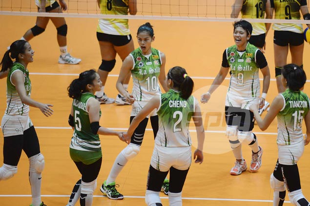 La Salle Lady Spikers keep pace with UAAP leaders with four-set win over UST Tigresses