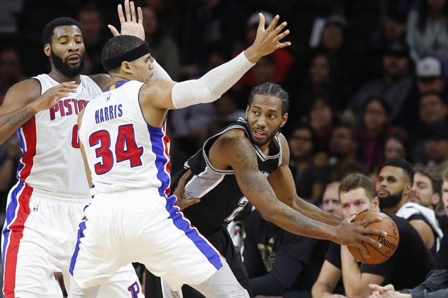 San Antonio Spurs go wire-to-wire in victory over Detroit Pistons