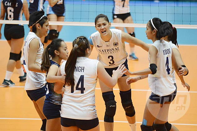 NU Lady Bulldogs make short work of Adamson Lady Falcons, gain top spot in UAAP volleyball